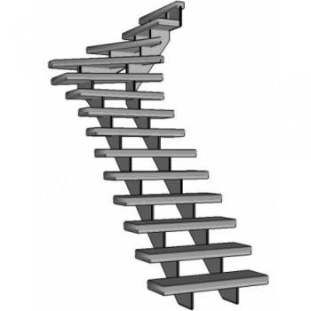 Stalen bovenkwart trap Grade Up | rechts
