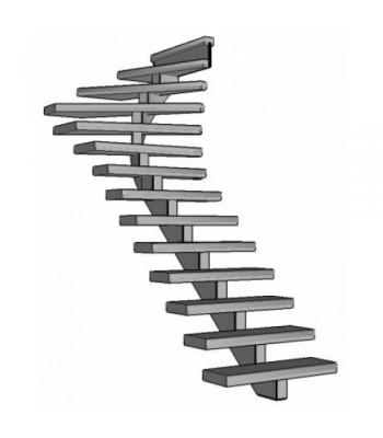 Stalen bovenkwart trap Spirwill | rechts