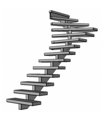 Stalen bovenkwart trap Spirwill | links