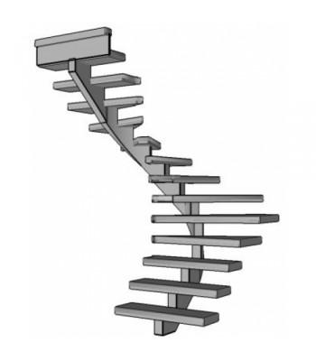 Stalen halve slag trap Spirlwill | links