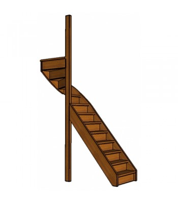 Mahonie trap bovenkwart | links | dicht