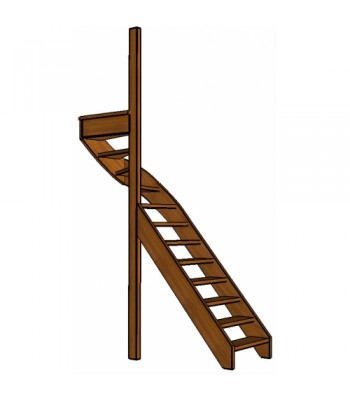 Mahonie trap bovenkwart | links | open