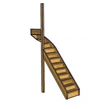 Fraké trap bovenkwart | links | dicht