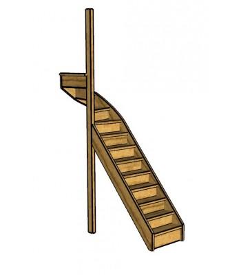 Fraké trap bovenkwart   links   dicht