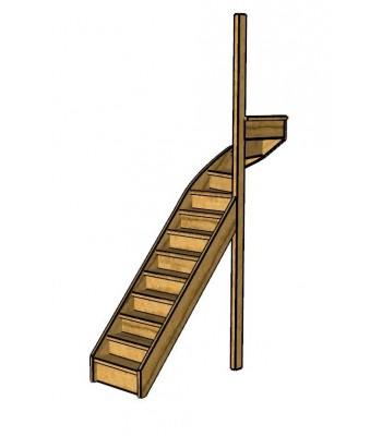 Fraké trap bovenkwart | rechts | dicht