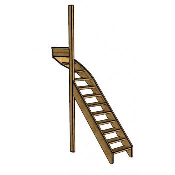 Fraké trap bovenkwart | links | open