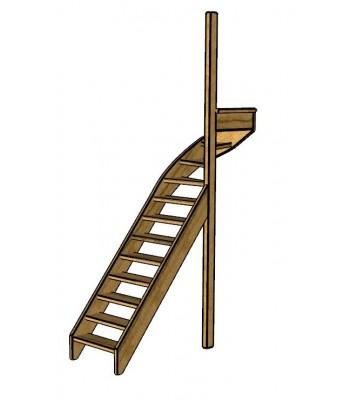 Fraké trap bovenkwart | rechts | open
