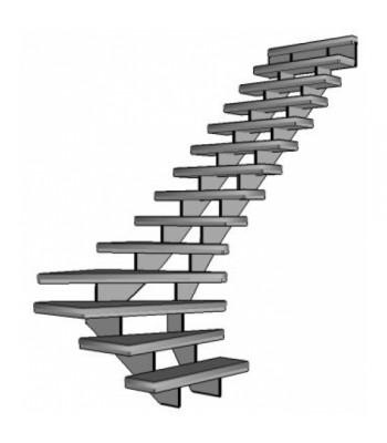 Stalen onderkwart trap Grade Up | rechts
