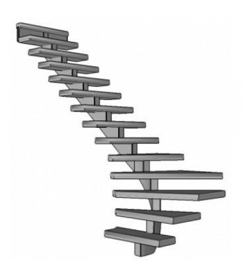 Stalen onderkwart trap Spirwill | links