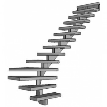 Stalen onderkwart trap Spirwill | rechts