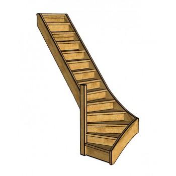 Fraké trap onderkwart | links | dicht