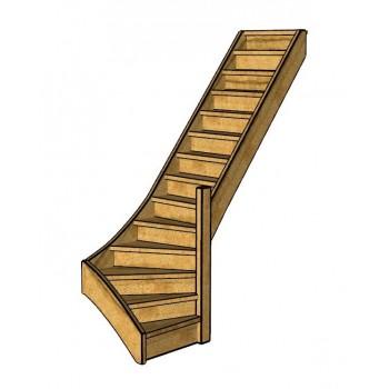 Fraké trap onderkwart | rechts | dicht