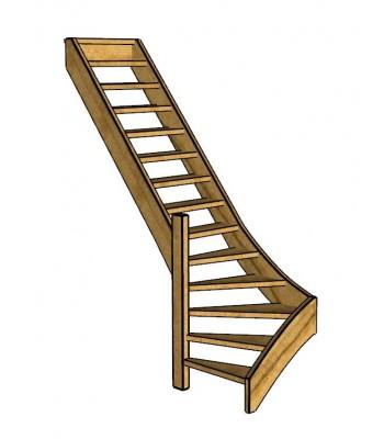 Fraké trap onderkwart | links | open