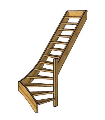Fraké trap onderkwart | rechts | open