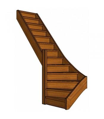 Mahonie trap onderkwart | links | dicht