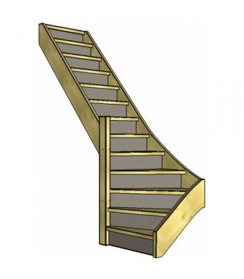 Vuren trap onderkwart | links | dicht